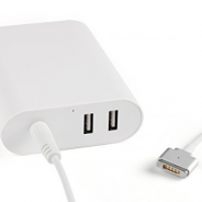 60W Magsafe Power Adapter For Magsafe 1/2 + 2 USB Ports
